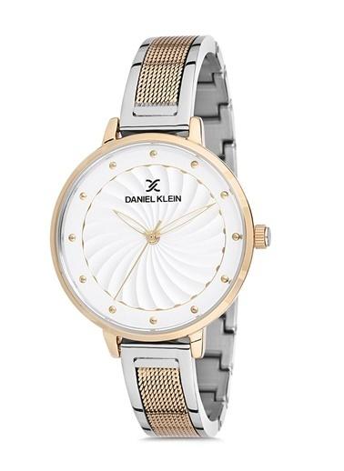 Daniel Klein Dk012155P06 Yuvarlak Kadran Suya Dayanıklı Çelik Renkli Taşlı Kadın Kol Saati Renkli